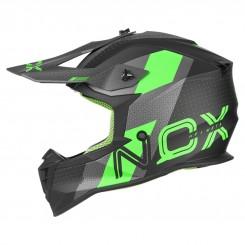 Кацига Nox N633 Viper Mat Grey - Neon Green